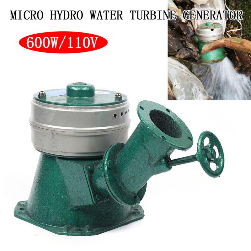 600W Micro Hydro Water Turbine Electric Generator Hydroelectric Power USA NEW