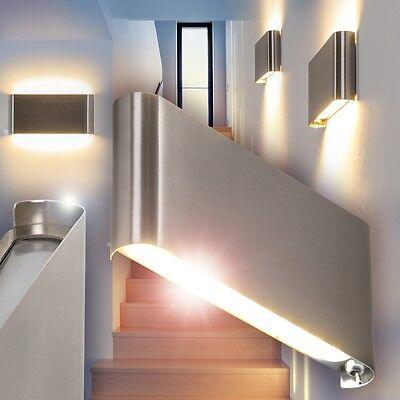 Design LED Wandleuchte mit Schalter Wohn Zimmer Lampe Flur Leuchte Wand Strahler