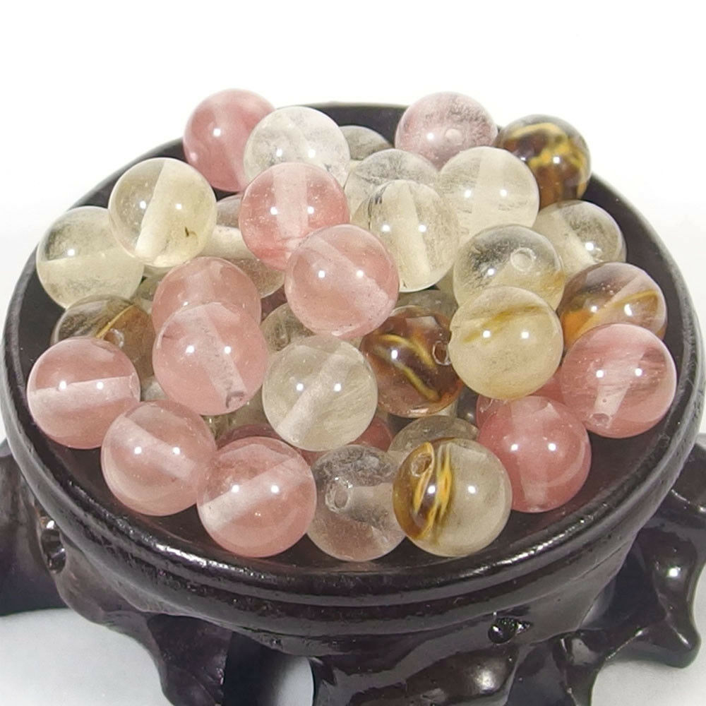Bulk Gemstones I natural spacer stone beads 4mm 6mm 8mm 10mm 12mm jewelry design cherry quartz