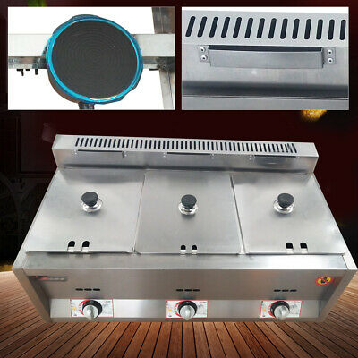 3 Pan Commercial Natural Gas Steam Table Food Warmer Kitchen Steamer 6 Deep Pan
