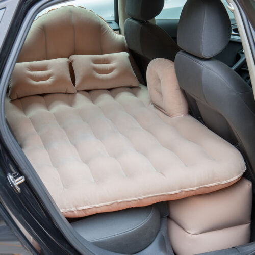 Inflatable Travel Car Mattress Air Bed Back Seat Sleep with