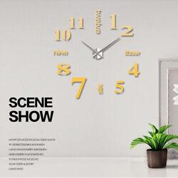 3D Modern DIY Large Number Mirror Wall Sticker Big Watch Art Clock Home Decor