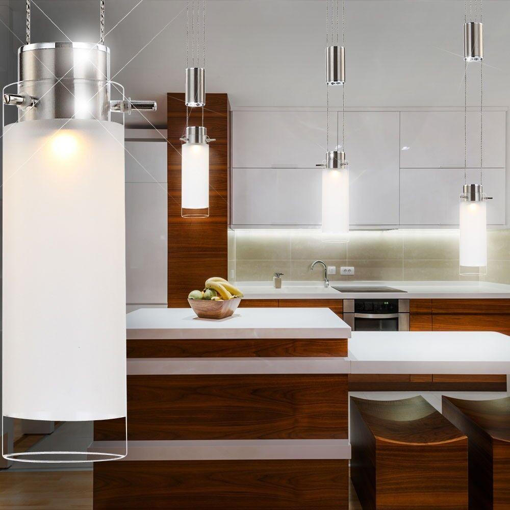 Esstisch Beleuchtung ~ LED Pendelleuchte Hängelampe Esstisch Beleuchtung Glas Strahler LxBxH 80x8x15