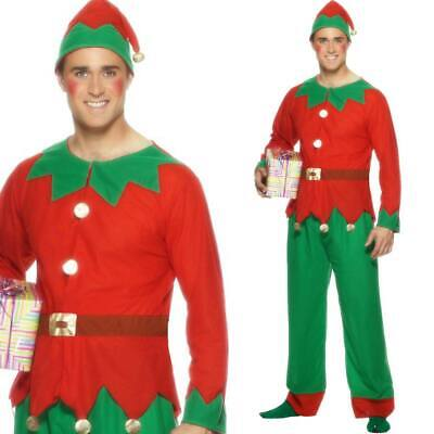 Herren Elfe Kostüm Plus Hut Festliche Weihnachten Kostüm - Weihnachten Elf Hut