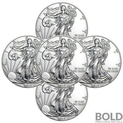 2019 Silver 1 oz American Eagle BU (5 Coins)