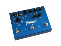 12 modulation effects in one stompbox sized guitar effects pedal