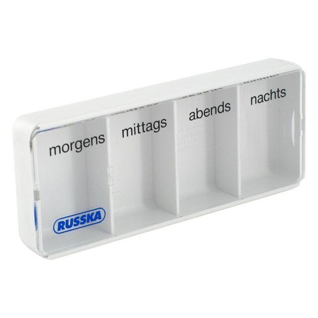 Tablettenbox-Pillendose Morgens-Mittags-Abends & Nachts