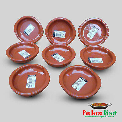 Set of 8 x 10cm Spanish Terracotta Tapas Dishes / Cazuelas