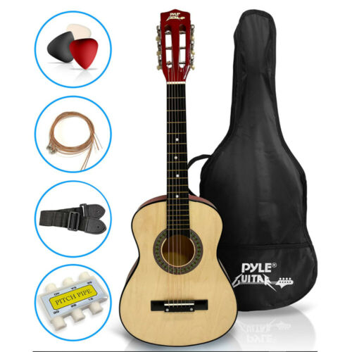 30 Inch Natural 18 Frets 6 Strings Right Beginner Basswood Acoustic Guitar Kit