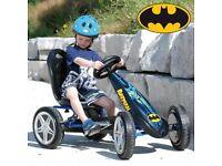 Batman Hurricane Go Kart Racing Sturdy Toy Kids Children Pedal Power Hand Brake