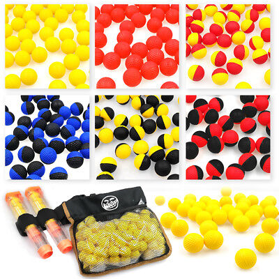 100 Rounds High Quality Ammo with Pouch Foam Balls Compatible for Nerf Rival Toy