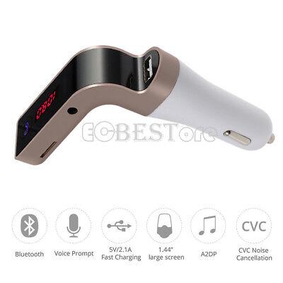 Bluetooth Auto Zigarettenanzünder USB Ladegerät  FM Musik Radio Player für Handy ()