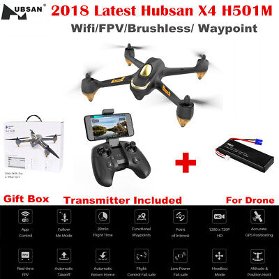 2018 Hubsan H501M X4 WIFI FPV Drone RC Brushless Quadcopter 720P Camera GPS RTF