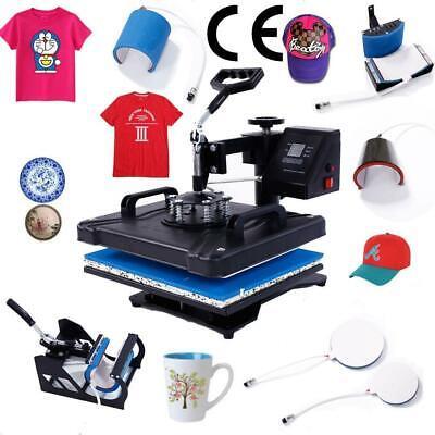 8 In 1 Heat Press Machine Transfer Sublimation T-shirt Mug Plate Cap Hat