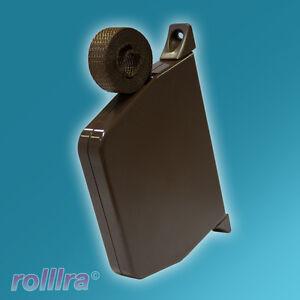 Mini Gurtwickler für Rolladen Rollladen mit Gurtband 5m Aufschraubwickler braun
