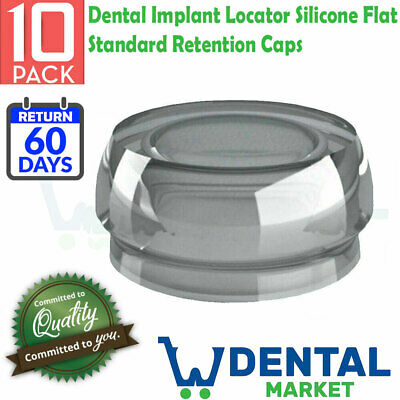 10x Dental Implant Locator Silicone Flat Standard Retention Caps