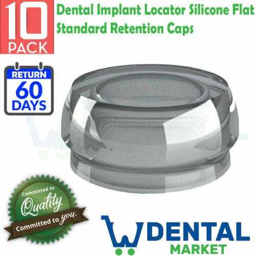 10X Dental Implant Locator Silicone Flat Standard Retention Caps