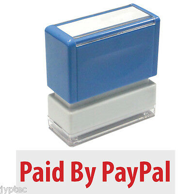 Paid By Paypal - Jyp Pa1040 Pre-inked Rubber Stamp Red Ink