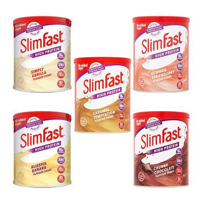 SlimFast Selection Flavours Shake Powder Caramel Vanilla Chocolate Banana (Chocolate Banana Shake)
