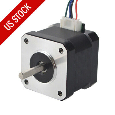 Nema 17 Stepper Motor 42mm 1.7a Bipolar 62oz.in 1.8deg 4-lead For 3d Printer