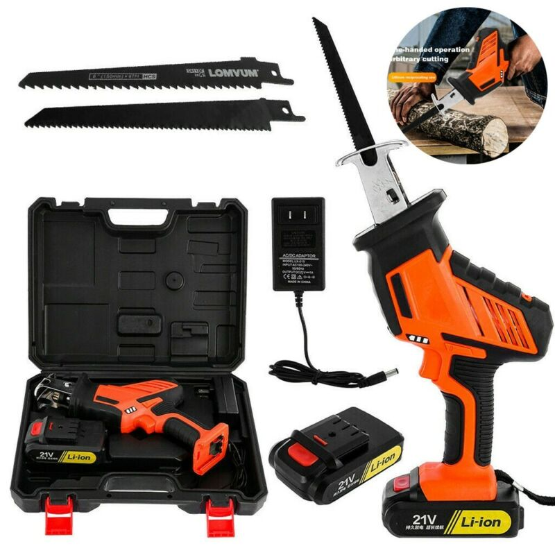 Cordless Reciprocating Saw 2 Blades W Battery&Charger Recip