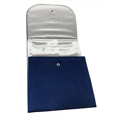 Blue Velvet Jewelry Folder Organizer Storage Display Gift Box for Necklace