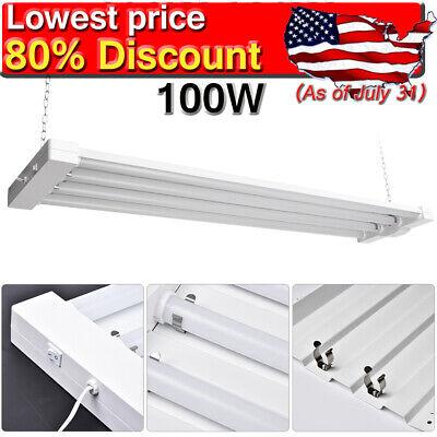 4pcs 100w 4ft Led Shop Light Garage Workbench Ceiling Lamp Linkable Workplace