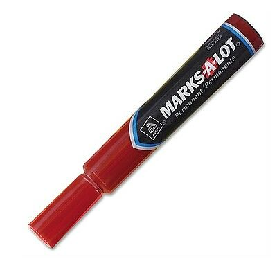 Avery Marks-a-lot Permanent Marker Chisel Point Red 1 Ea Pack Of 4