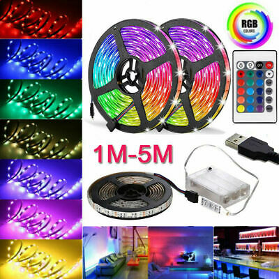 LED STRIP LIGHTS 5050 RGB COLOUR CHANGING TAPE UNDER CABINET KITCHEN LIGHTING UK
