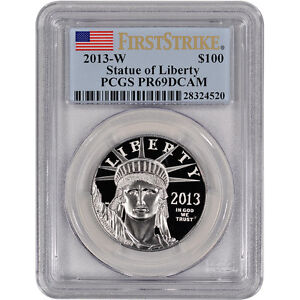 2013-W-American-Platinum-Eagle-Proof-1-oz-100-PCGS-PR69-DCAM-First-Strike