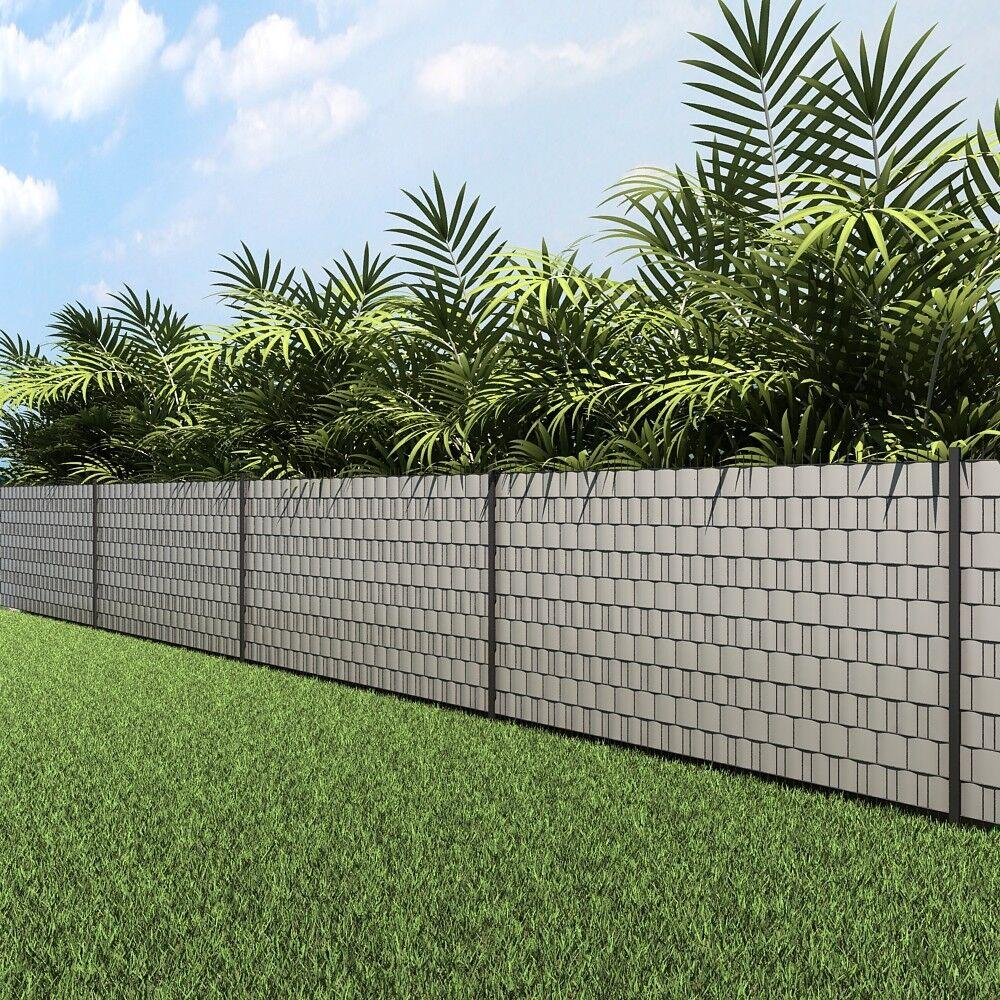 pvc sichtschutzstreifen sichtschutz zaunfolie doppelstabmatten zaun folie 40 m eur 25 99. Black Bedroom Furniture Sets. Home Design Ideas