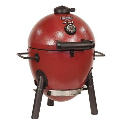 Char-Griller Akorn Kamado Kooker Jr. Durable Cast Iron Charcoal Grill Red