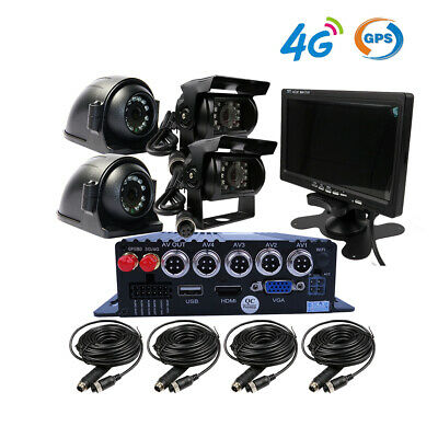 1080P GPS 4G MDVR Car DVR Video Record Rear View CCTV Camera System 7
