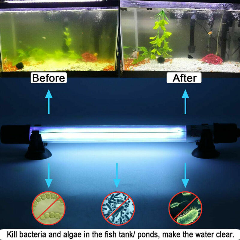 Aquarium Clean Lamp Submersible UV Light Sterilizer Pond Fish Tank Germicidal
