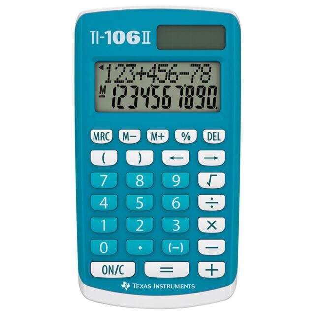 Texas Instruments TI106 II 4 Function Calculator
