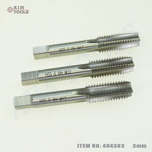 404303-3PCs-HSS-Metric-Hand-Tap-Threading-Set-3MM-Through-20MM-Coarse-Pitch
