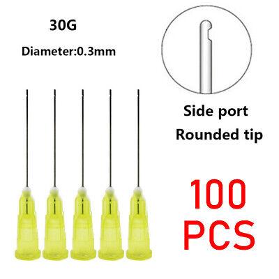 100pcs Dental Endo Irrigation Needle Tip 30ga End-closed Side Hole Syringes New