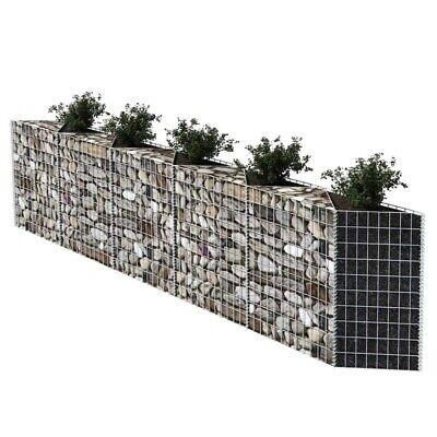 Gabion Wall Galvanized Steel Stone Basket Cage Fence 300 x 30 x 100 cm