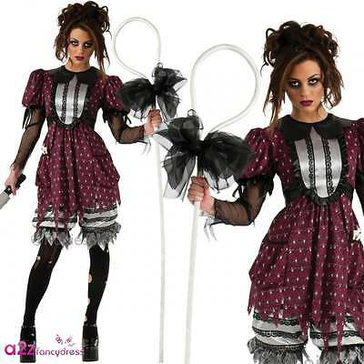 Lil Bo Creep Adult Ladies Halloween Fancy Dress Zombie Little Bo Peep Costume - Little Bo Peep Adult Costume