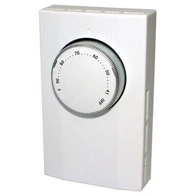 King K102 Double Pole Line Voltage Thermostat 120-277v White