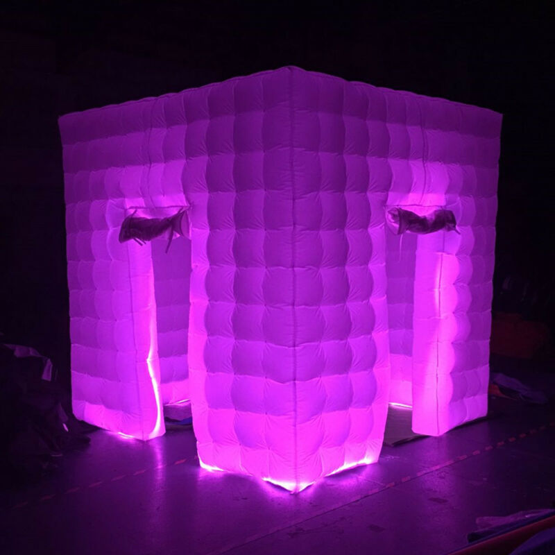 2 Door Inflatable LED Air Pump Photo Booth Tent with Blower Fun Party 2.5M USA