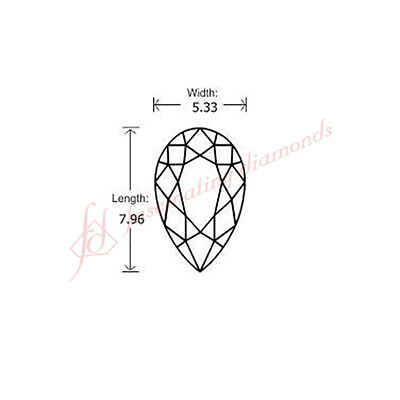 Design Your Own Ring With The Natural Diamond - 0.82 Carat Pear Shaped Diamond 1