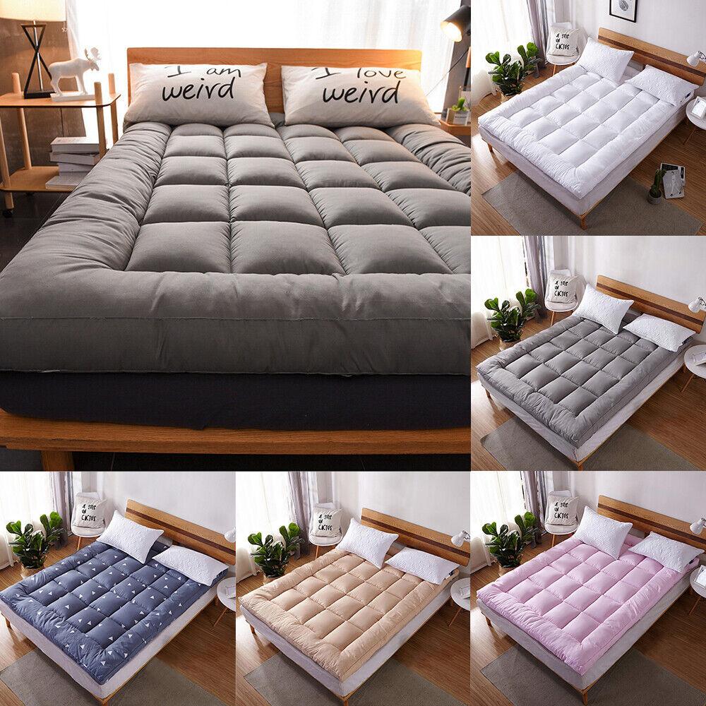 Mattress Pad Cover 72D Hollow Fiber Soft Bed Topper Protecto