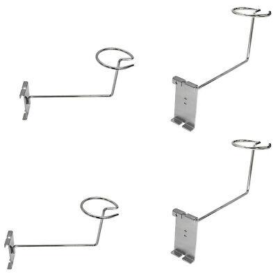 4pc Chrome Hat Racks Wire Grid Wall Cap Slat Panels Gridwall Display Hook Retail