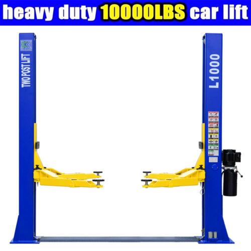10,000 LB Capacity L1000 2 Post Car Lift Auto Truck Hoist Open Top