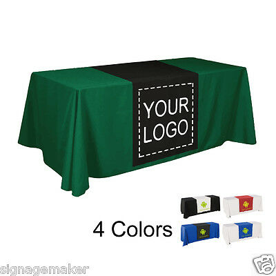 2pcs 30w Custom Full Color Trade Show Table Runner Table Cloth Not Included