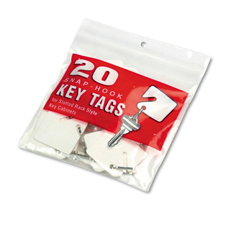 SteelMaster 201300006 20/Pack Plastic Slotted Rack Key Tags - White New