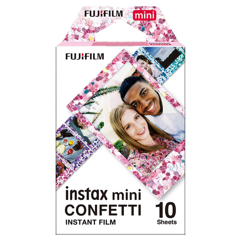 2019 Fujifilm Instax Mini 10 Sheets Confetti Film For Fuji 7s 8 9 70 90 Camera