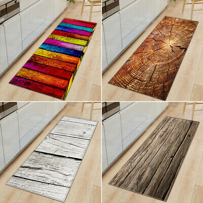 Non-Slip Kitchen Floor Mat Machine Washable Rug Door Large R