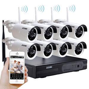 Zosi 960p 8ch nvr hd wifi kit vid o surveillance sans fil for Kit video surveillance exterieur wifi